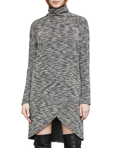 Bcbg Maxazria Talley Boucle Turtleneck Dress-GREY-Large