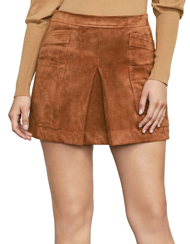 Bcbg Maxazria Corinne Mini Skirt-BROWN-X-Small