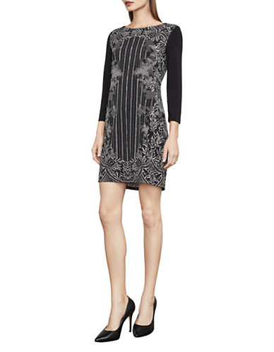 Bcbg Maxazria Noely Jersey Mini Dress-BLACK-Large