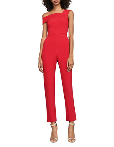 Bcbg Maxazria Haida One-Shoulder Jumpsuit-RED-12