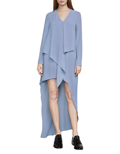 Bcbg Maxazria Kyndal Asymmetrical Dress-BLUE-X-Small