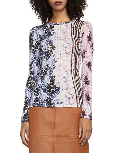 Bcbg Maxazria Brailey Floral Top-MULTI-XX-Small