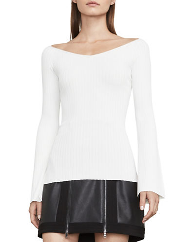 Bcbg Maxazria Zoee Knit Sweater-WHITE-Medium