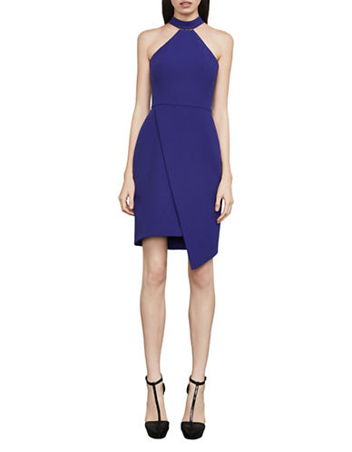 Bcbg Maxazria Makenna Asymmetrical Halter Dress-BLUE-12