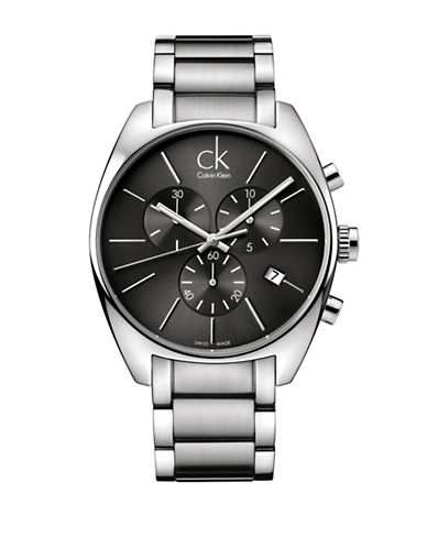 Calvin Klein Chronograph Exchange Stainless Steel Watch-SILVER-One Size
