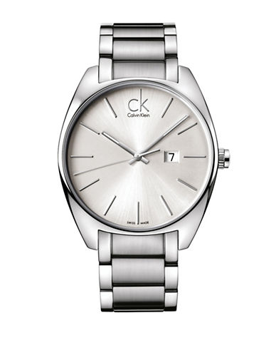 Calvin Klein Analog Exchange Collection Stainless Steel Bracelet Watch-SILVER-One Size