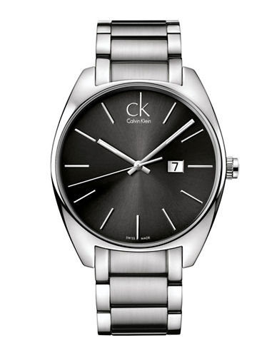 Calvin Klein Analog Exchange Stainless Steel Bracelet Watch-SILVER-One Size
