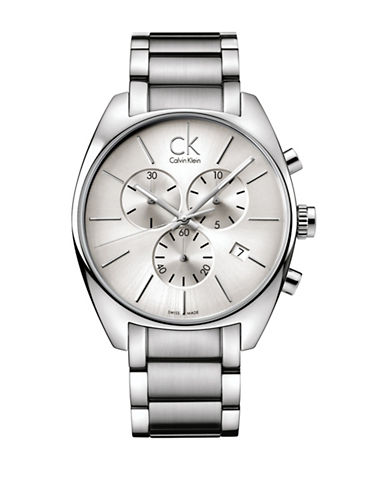 Calvin Klein Exchange Chronograph Bracelet Watch-SILVER-One Size