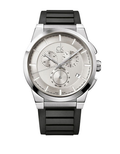 Calvin Klein Dart Collection Rubber Strap Watch-GREY-One Size