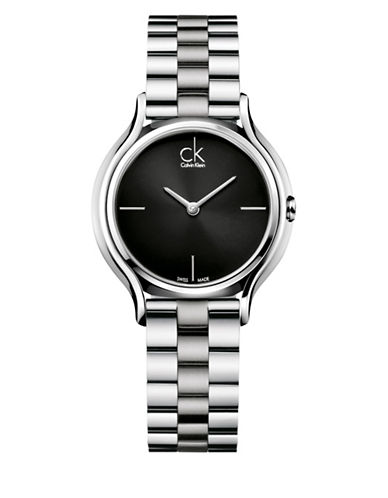 Calvin Klein Analog Skirt Stainless Steel Watch-SILVER-One Size