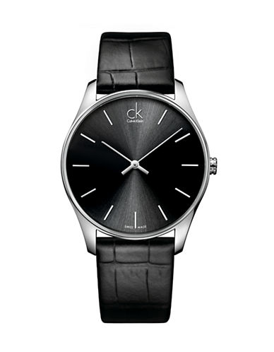 Calvin Klein Mens Analog Classic K4D211C1 Watch-BLACK-One Size