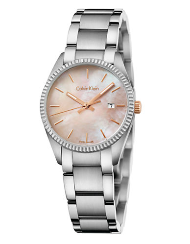 Calvin Klein Womens Alliance Watch K5R33B4H-SILVER-One Size