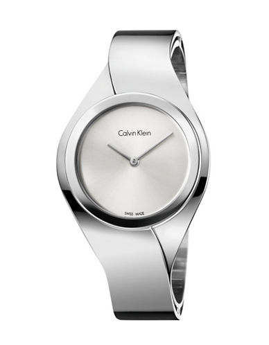 Calvin Klein Stainless Steel Silver Senses Watch-SILVER-One Size