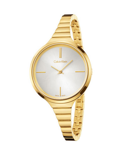 Calvin Klein Lively Stainless Steel Bracelet Watch-GOLD-One Size