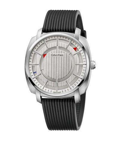 Calvin Klein Highline Silicone Strap Watch-BLACK-One Size 88105451_BLACK_One Size