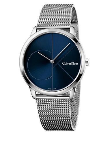 Calvin Klein Analog Minimal Mesh Bracelet Watch-BLUE-One Size