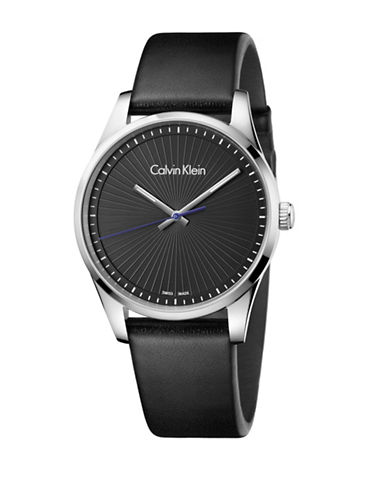 Calvin Klein Analog Steadfast Collection Black Dial Watch-BLACK-One Size