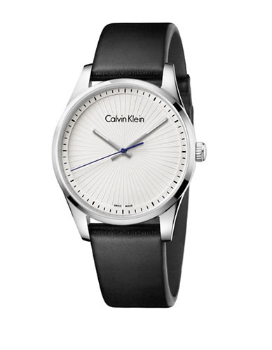 Calvin Klein Analog Steadfast Collection White Dial Watch-SILVER-One Size