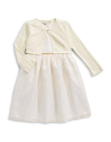 Marmellata Dress and Cardigan Set-IVORY-5