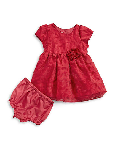 Marmellata Two-Piece Organza Dress & Bloomers Set-RED-12 Months