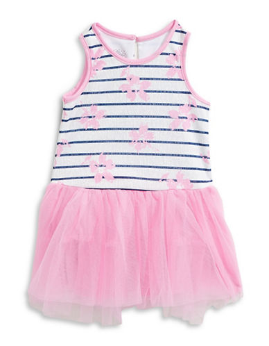Marmellata Floral Print Tulle Tutu Dress-ASSORTED-2T