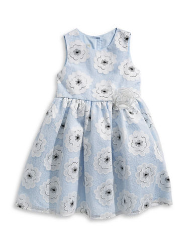 Marmellata Embroidered Floral Mesh Dress-WHITE-2T