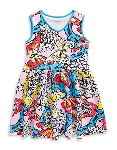 Marmellata Butterfly Print Scuba Skater Dress-MULTI-COLOURED-14