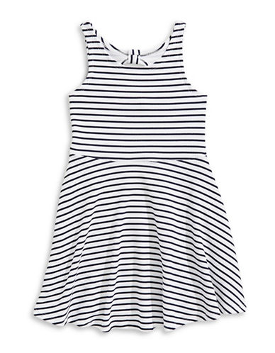 Marmellata Striped Sleeveless Sheath Dress-WHITE-8