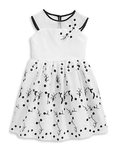 Marmellata Floral Embroidered Illusion Dress-WHITE-3T