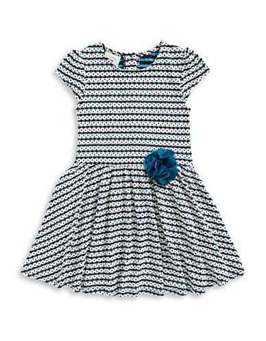 Marmellata Striped Knit Swing Dress-MULTI-COLOURED-3T