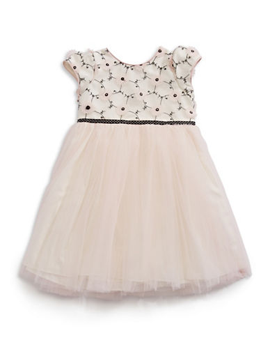Pippa & Julie Organza Fit-And-Flare Dress-PINK-3T
