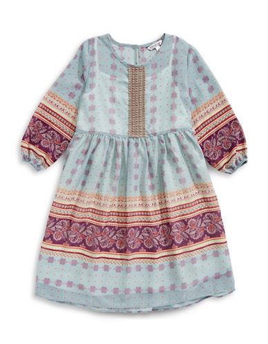 Pippa & Julie Printed Peasant Dress-MULTI-COLOURED-14