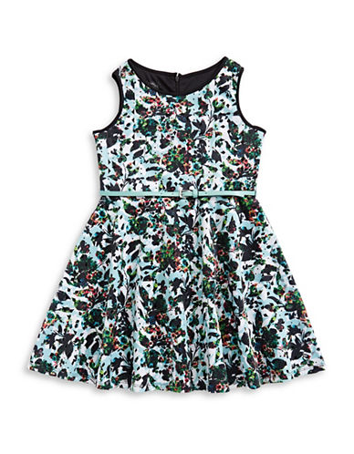 Pippa & Julie Floral Print Skater Dress-MULTI-COLOURED-12
