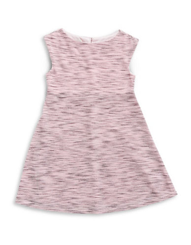 Marmellata Marled-Knit Dress with Necklace-PINK-14