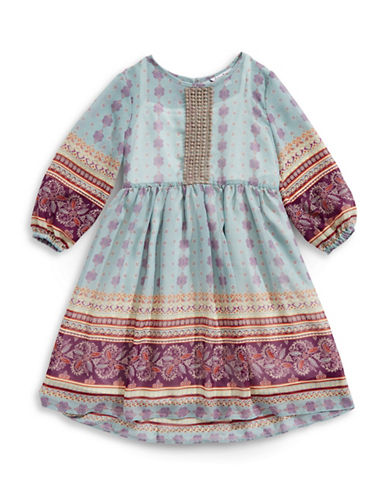 Pippa & Julie Printed Peasant Dress-MULTI-7