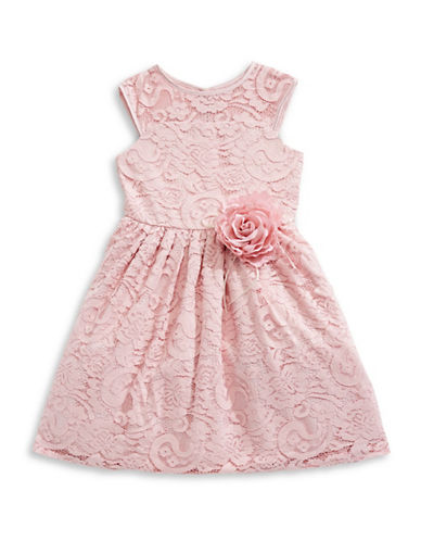 Marmellata Soutache Lace Illusion Dress-PINK-6X