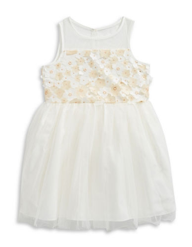 Marmellata Cherry Blossom Ballerina Dress-WHITE-3T