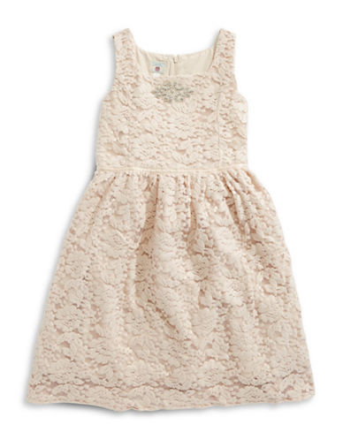 Marmellata Lace Mesh Ballerina Dress-PINK-7