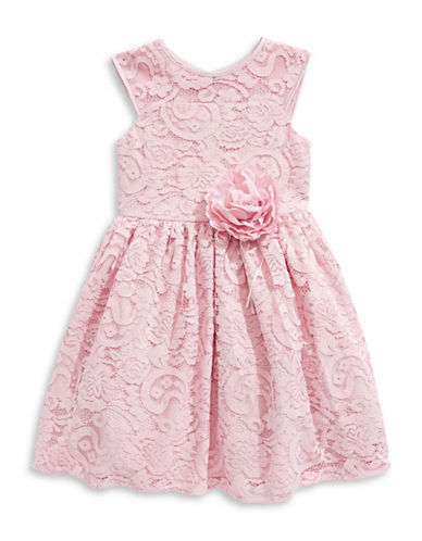 Marmellata Lace Illusion Dress-PINK-6X