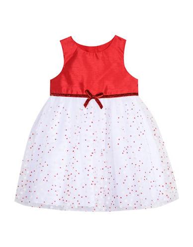 Marmellata Glitter Dot Ball Dress-RED-6