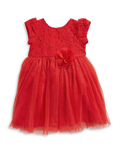 Pippa & Julie Lace Tutu Dress-RED-3T