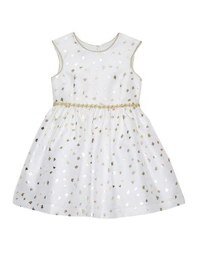 Pastourelle Jacquard Ivy Dress-BEIGE-6