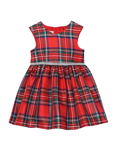 Marmellata Plaid Sleeveless Dress-RED-2T