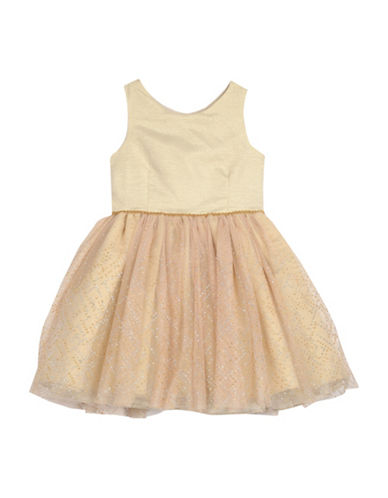 Pippa & Julie Ballerina Dress-GOLD-6X