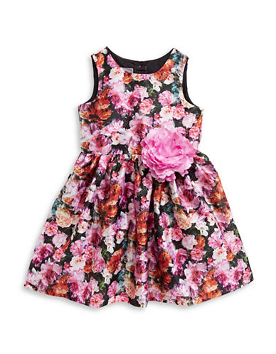 Pastourelle Floral-Print Dress-ASSORTED-3T