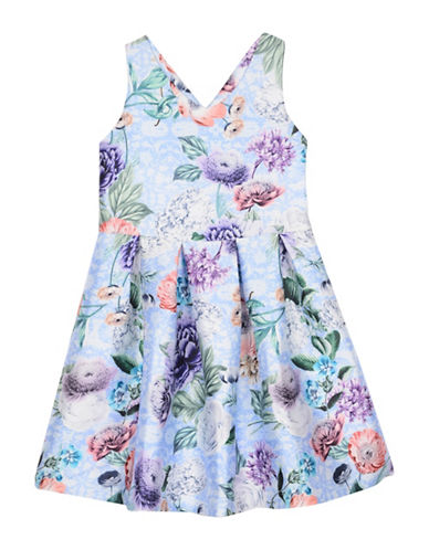 Pippa & Julie Floral Cross Back Dress-MULTI-8