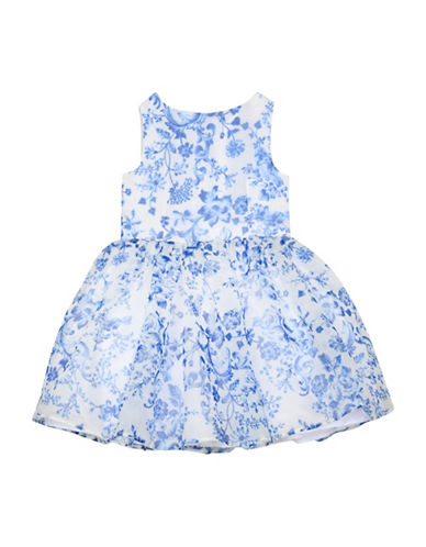 Pippa & Julie Floral Print Dress-BLUE/WHITE-6
