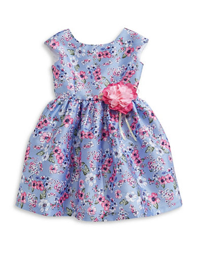 Pastourelle Floral Sleeveless Dress-MULTI-2T