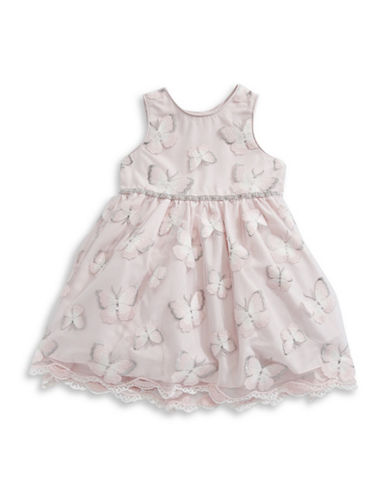 Pippa & Julie Butterfly Sleeveless Dress-PINK-3T