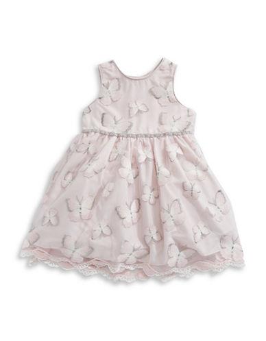Pippa & Julie Butterfly Sleeveless Dress-PINK-6X